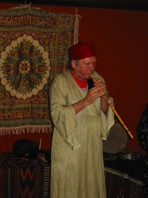 Ernie plays the Egyptian reed pipe